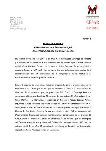 Nota de prensa - Fundación César Manrique