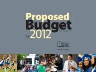 Proposed Budget Presentation - Fairfax County Public Schools