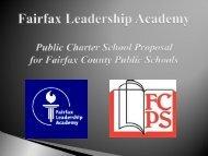 Fairfax Leadership Academy Public Charter School Proposal for ...