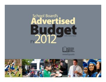 Advertised Budget Presentation - Fairfax County Public Schools