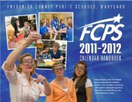2012 - Frederick County Public Schools