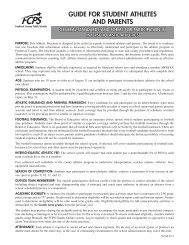 guide for student athletes and parents - Frederick County Public ...