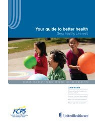 Your guide to better health - Frederick County Public Schools