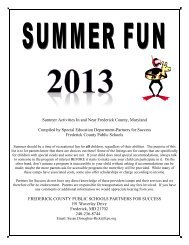Partners for Success Summer Fun - Frederick County Public Schools