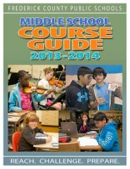 middle sChool Course Guide - Frederick County Public Schools