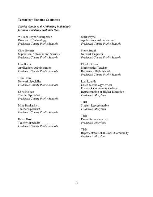2009-12 FCPS - Frederick County Public Schools