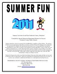 Summer Activities In and Near Frederick County, Maryland ...