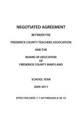 FCTA Negotiated Agreement - Frederick County Public Schools