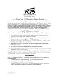 Summary - Frederick County Public Schools