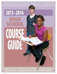 Counselor services - Frederick County Public Schools