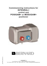 INTEGRAL+ POSIGAM+ or MODUGAM+ - Fluid Control Services