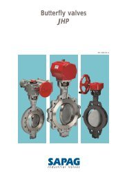 Butterfly valve JHP - Fluid Control Services