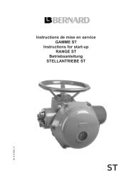 Instructions de mise en service GAMME ST Instructions for start-up ...