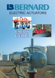 ELECTRIC ACTUATORS - YOO SHIN E&I CO., LTD.