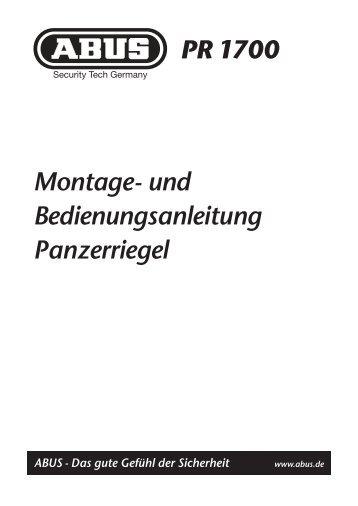Montage- und Bedienungsanleitung ... - Betting und Buss Gbr