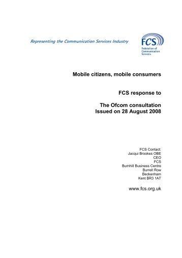 Ofcom MSA response - Federation of Communication Services