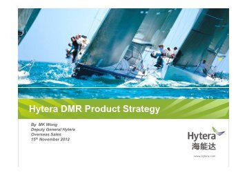 Hytera DMR Product Strategy - Federation of Communication Services