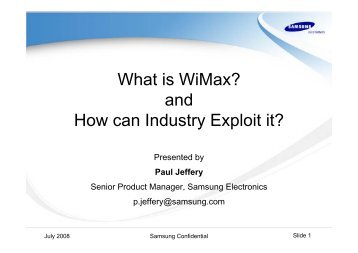 What is WiMax? - Federation of Communication Services