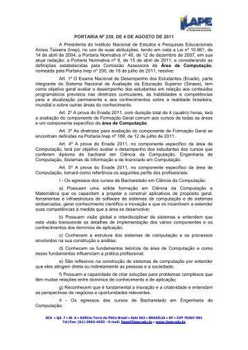 PORTARIA Nº 239, DE 4 DE AGOSTO DE 2011 A ... - Fcsl.edu.br