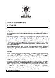 Konzept der Amateurboxabteilung zur St. Pauliade - FC St. Pauli