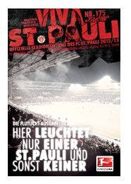 25. Spieltag: FC St. pauli – SSV Jahn RegenSbuRg Anstoss: FreitAg ...