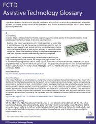 FCTD Assistive Technology Glossary - Family Center on Technology ...