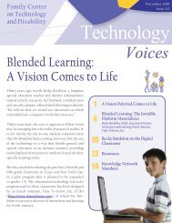 Blended Learning - Family Center on Technology and Disability