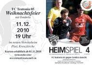 4. Heimspiel, T05 1.Herren - FC Teutonia 05 eV