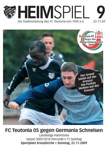 Heimspiel 9, T05 - Germania Schnelsen - FC Teutonia 05 eV