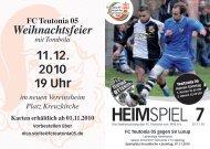 7. Heimspiel, T05 1.Herren - FC Teutonia 05 eV