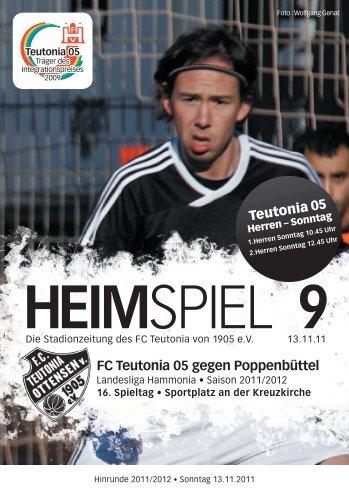 Heimspiel 9, T05 - Poppenbüttel - FC Teutonia 05 eV