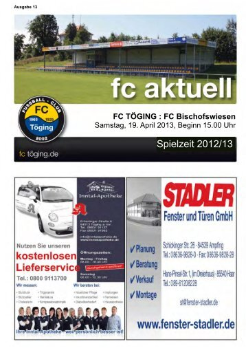 Heft 13 herunterladen - FC Töging