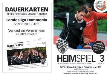 3. Heimspiel, T05 1.Herren - FC Teutonia 05 eV