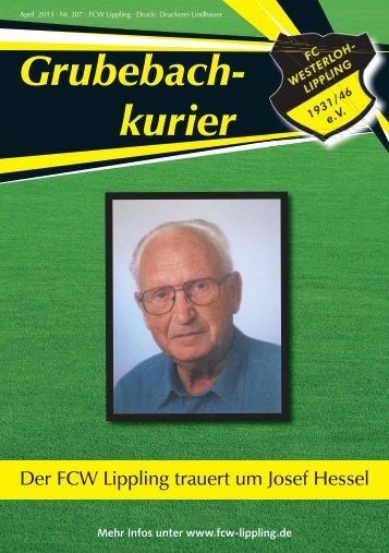 Grubebachkurier Nr. 207 - FC Westerloh-Lippling