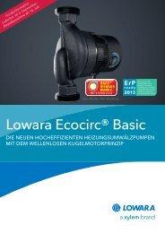 Lowara Ecocirc® Basic - Asotec GmbH