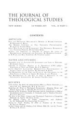 Jts-60.2.contents 1..4 - Journal of Theological Studies