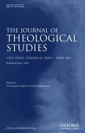 theological studies - Journal of Theological Studies - Oxford Journals