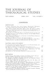 Jts-60.1.contents 1..4 - Journal of Theological Studies