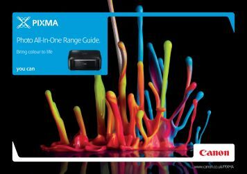 Photo All-In-One Range Guide. - Brochures - Canon Europe