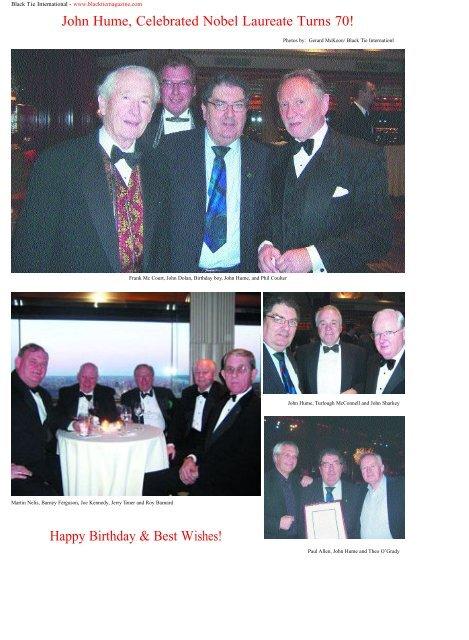 John Hume, Celebrated Nobel Laureate Turns 70! - Black Tie ...