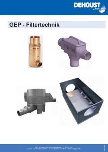GEP - Filtertechnik - DEHOUST GmbH