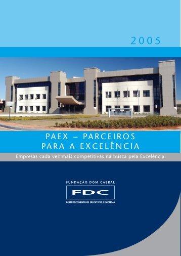 PAEX – PARCEIROS PARA A EXCELÊNCIA - Portal FDC