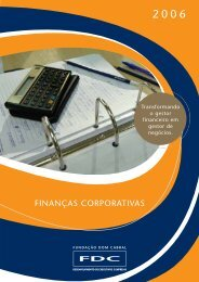 FINANÇAS CORPORATIVAS - Portal FDC