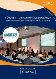 FóRuM INteRNACIoNAL De LIDeRANçA - Portal FDC