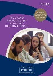 programa avançado em negócios internacionais - Portal FDC