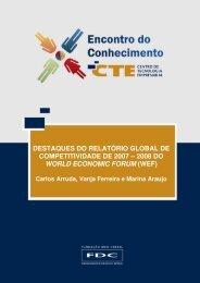 destaques do relatório global de competitividade de 2007 – 2008 do ...