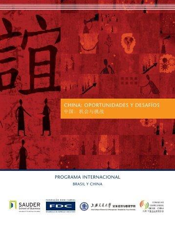 CHINA: OPORTuNIDADES y DESAfíOS