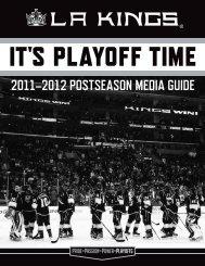 2012 Postseason Guide (.pdf) - Los Angeles Kings - NHL.com