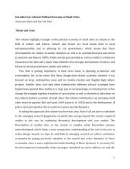 Introduction: Cultural Political Economy of Small Cities Anne ...