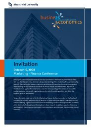 Invitation - School of Business and Economics - Maastricht University